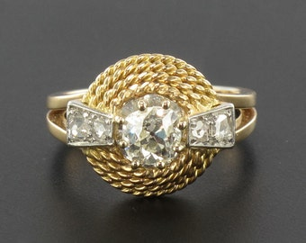 Ring yellow gold 18K Vintage 60