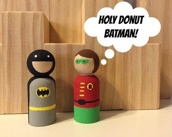 Batman & Robin Peg Doll Set
