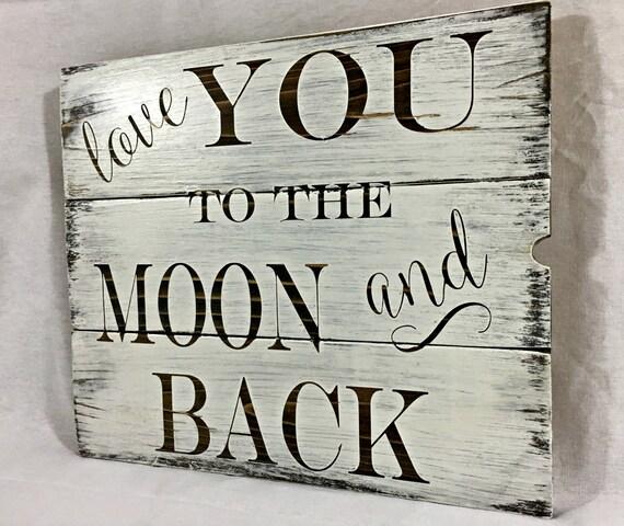 Ich liebe dich bis zum mond und zurück von boardsandburlapdecor