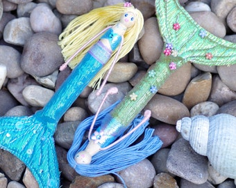 Mermaid Peg Doll, Peg Dolls, Mermaids