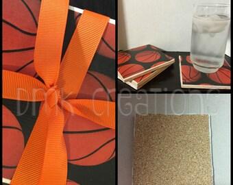 Basketball  Tile Coasters, Drink coasters, tile coasters, basketball, sports
