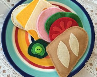 felt food play sub sandwich