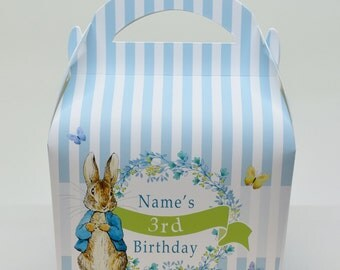 Peter Rabbit Personalised Children's Party Box Gift Bag Favour