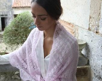 Brushed Alpaca Lace Shawl, Christmas Gifts, Wedding Gifts