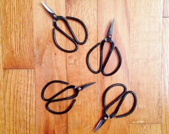 Bonsai Scissors, Craft Supply Scissors, Vintage Scissors, Rustic Scissors, Weaving Tools