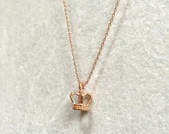 Crown Necklace ~ Rose Gold
