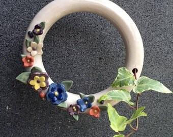 Donut-shape Ceramics Planter and Decor