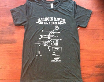Small-Forest green Illinois River Triblend tee