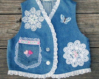 Girls Denim Vest (size 2)