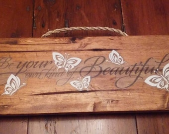 Beautiful butterfly wall hanging.