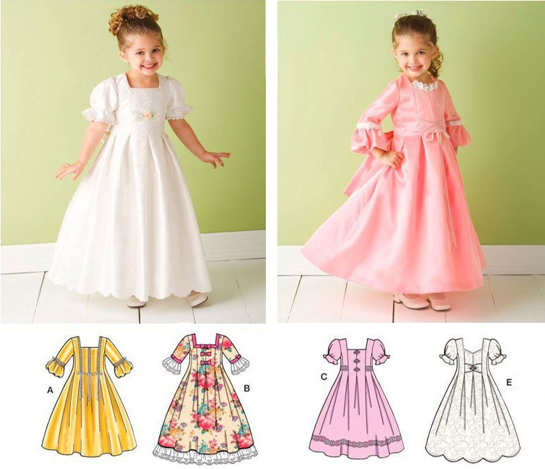 Flower Girl Dress Sewing Pattern Simplicity 3545 Size By