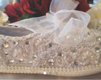 Wedding Bridal SNEAKER Tennis Shoe-  Beach - Destination White Or Ivory SWAROVSKI Pearl  - Imported Lace- Custom Shoe Lace Color