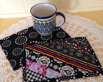 Quilted Patchwork Mug Rugs