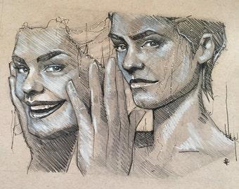 Face Me Original Sketch