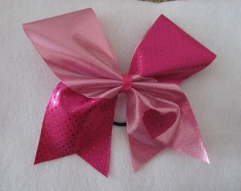 Here to Cheer Pink Tick Tock Heart Bow