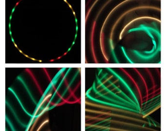 Sections Red Green & Yellow 2  LED Hula Hoop