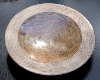 Quilted walnut bowl