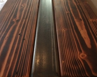 Fir and Steel Bench/Coffee Table