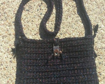Crochet purse with charms