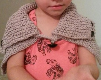 Kids Knitted Capelet
