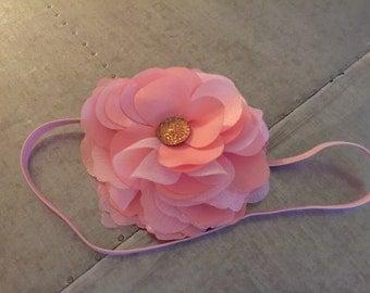 Pink Flower Headband