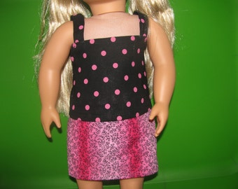 """18"""" doll outfit top and reversible skirt"""