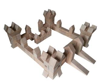Castle wood - 130 parts - building blocks