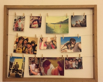 Clothesline Photo Hanging Frame