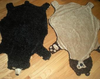 Bear Skin Rug - blanket, throw, costume, or make believe.  Large