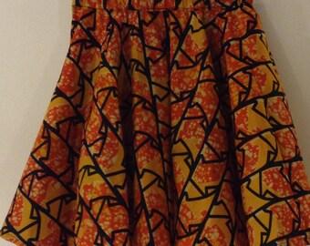 African Print Mini Circle Skirt