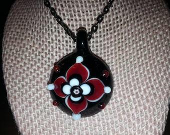 Bubbled Flower Pendant necklace