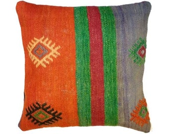 17x17 Pillow Cover Turkish Kilim Pillow Cover Cushion Cover Homedecor Pillows Throw Pillows Accent Pillows Bohomian Pillows Tribal Pillow