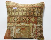 decorative carpet pillow cover 18x18 bohemian carpet pillow cover turkish pillow anatolia pillow hand made pillow cushion cover SP4545-240