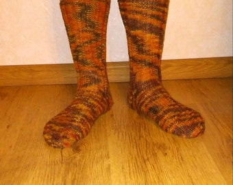 Womens handmade knitted socks. Knitted with special socks wool.