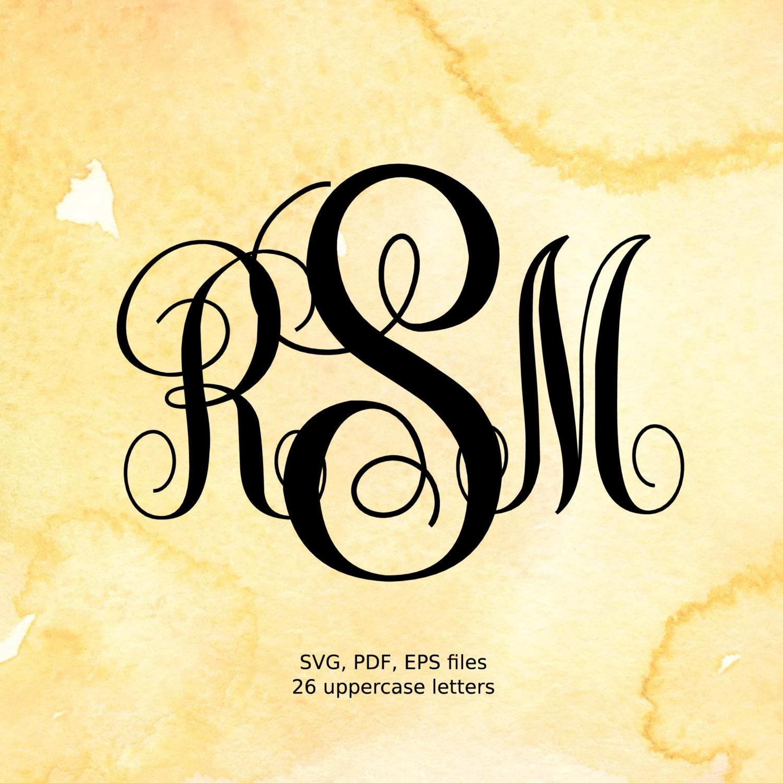 Download Vine Monogram SVG files Curly Monogram Letters svg eps pdf