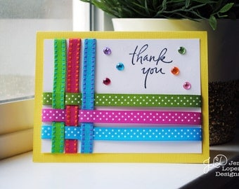 Thank You Ribbon Weave - Blank Note Card