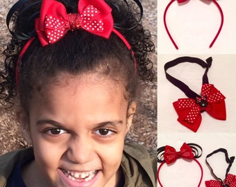 I Love Minnie Mouse Hair Bands
