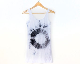 Black Ring Women's Tie Dye Dress/Singlet