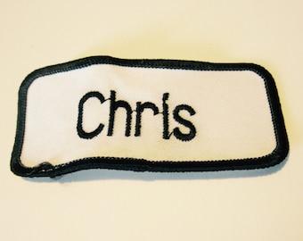 "Vintage ""Chris"" Name Patch"