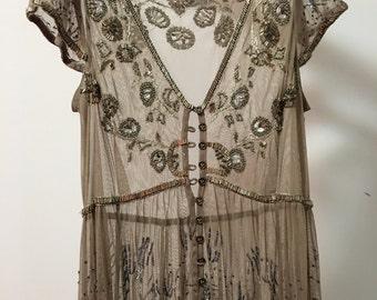 Sequenced Sheer Maxi Dress