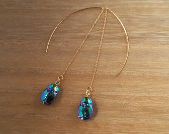 Dangling SWAROVSKI CRYSTAL thread earring