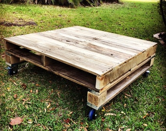 Rustic Pallet Coffee Table - Shipping NOT Included