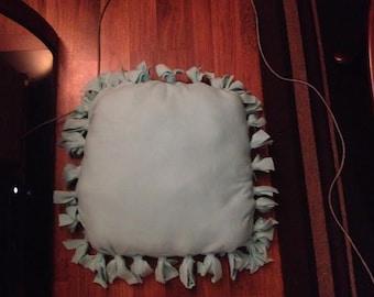 Light blue memory foam pet bed