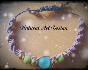 "Macrame bracelet ""Forest"""