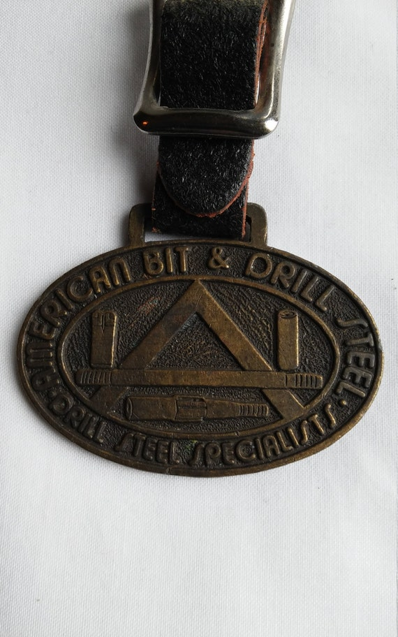 Vintage American Bit & Drill Steel Advertising Watch FOB