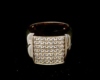 14K gold and diamond men's ring, Size 5