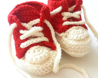 Classic Sneaker Baby Booties - Crotcheted