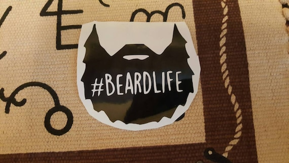 Beard life decal