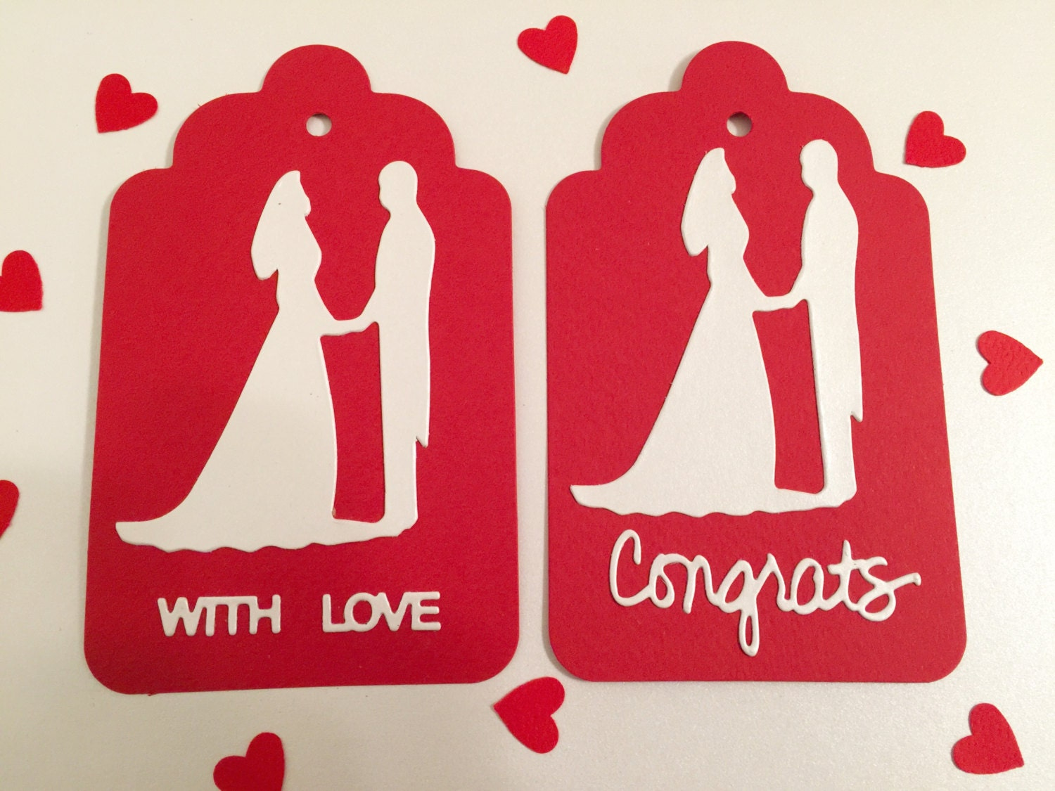 Wedding Gift Tags Singapore : Valentine Wedding Gift Tags Bride and Groom Tags Large Tags