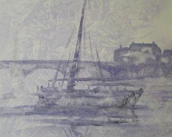 Barge on the Dordogne